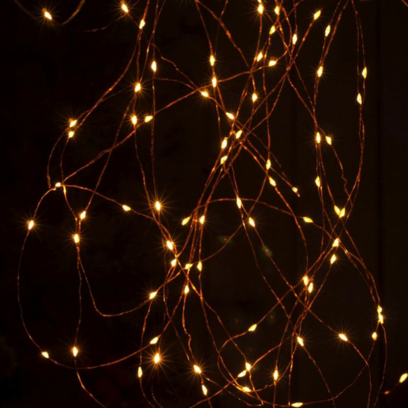 25 LED Amber Indoor Dewdrop Fairy Lights Battery 2.5m