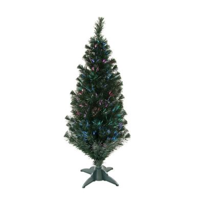 120cm (3 Foot 11 Inch) Green Classic Fibre Optic Christmas Tree