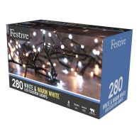 See more information about the 280 LED Duo White Outdoor Animated Cluster Fairy Lights Mains 10m