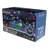 See more information about the 720 LED Multicoloured Outdoor Animated Cluster Fairy Lights Mains 9.3m
