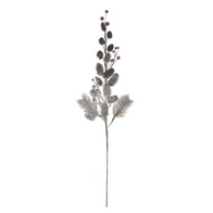 See more information about the Festive Flocked Pine Cone Branch Stem Natural & Red 61cm