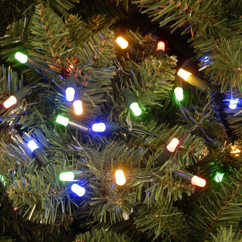 200 led multicolour 199m connectable christmas lights