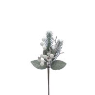 See more information about the Festive Berries Branch Stem White & Frosted 24cm