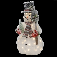 See more information about the Festive 40 LED Warm White Static Indoor 90cm Tall Merry Snowman Decoration Battery