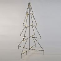 See more information about the 280 LED Warm White Black Metal 3D Tree 180cm