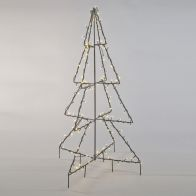 See more information about the 160 LED Warm White Black Metal 3D Tree 120cm