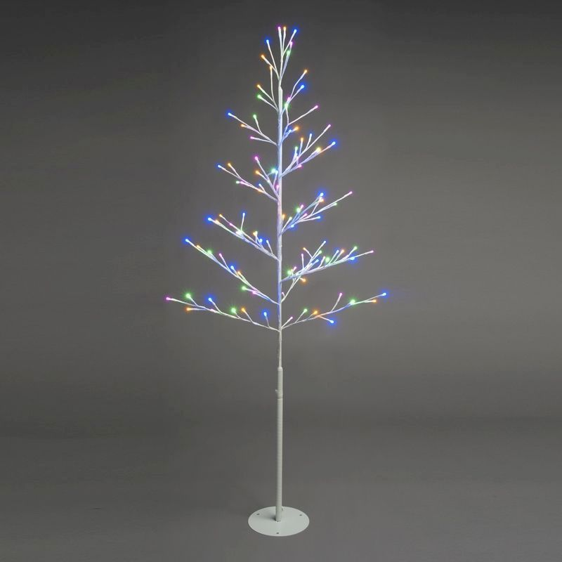 116 LED Pastel Multicolour Light Up Tree 150cm