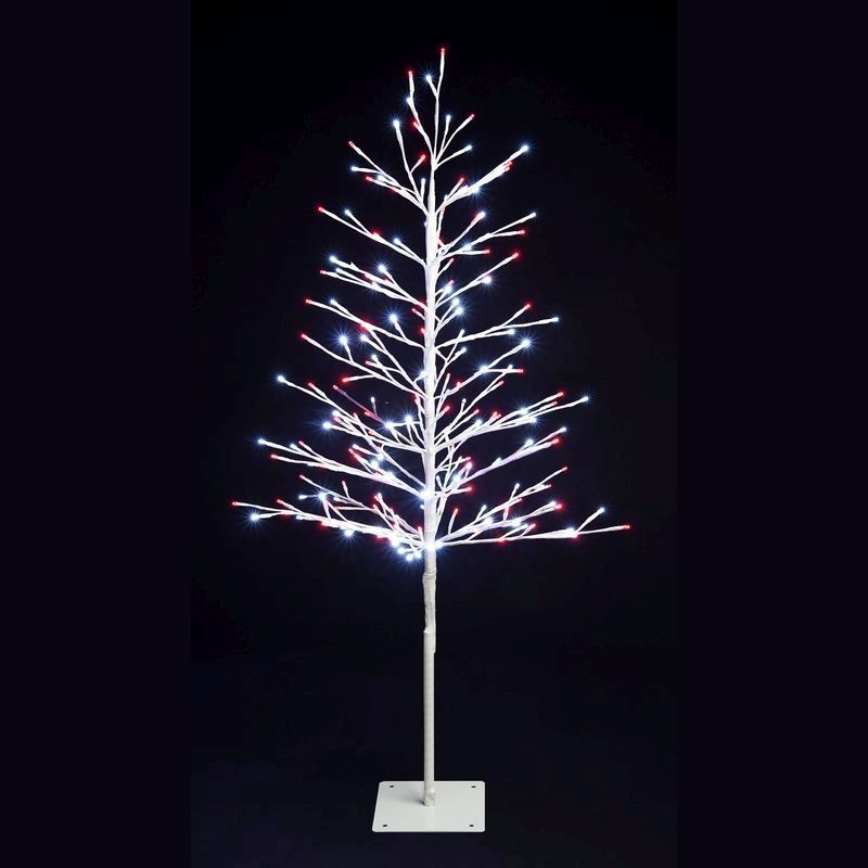400 LED Red & White Light Up Tree 150cm