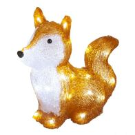 See more information about the 30 LED White Acrylic Light Up Fox 28cm