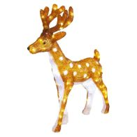 See more information about the 80 LED White Acrylic Light Up Reindeer 75cm
