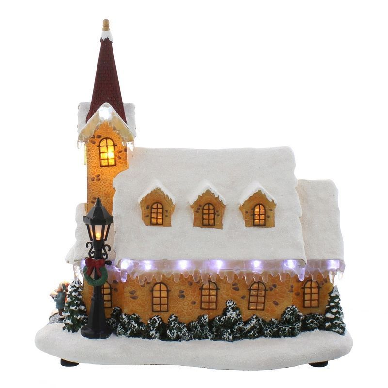 White Light Up Church 29cm
