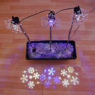 See more information about the 3 Pack Of 3 LED Multicolour Snowflake Projector Stake Lights