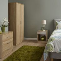 See more information about the Panama 3 Piece Bedroom Furniture Set - Oak
