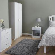 See more information about the Panama 3 Piece Bedroom Furniture Set - White