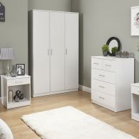 See more information about the Panama 4 Piece Bedroom Furniture Set - White