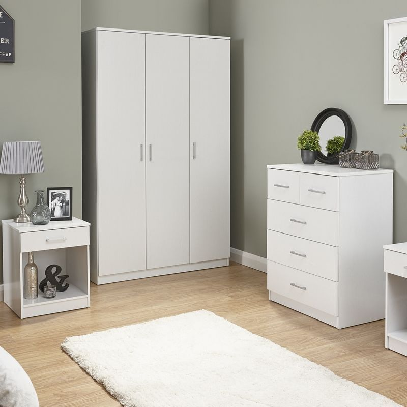Panama 4 Piece Bedroom Furniture Set - White