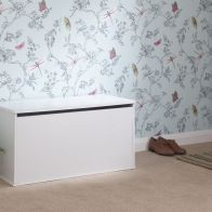 See more information about the Panama White Ottoman Storage Box