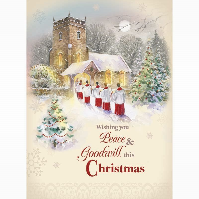 Christmas Cards Church Scenes Buy Online At Qd Stores