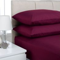 See more information about the Plain Dyed Single Bed Flat Sheet Aubergine