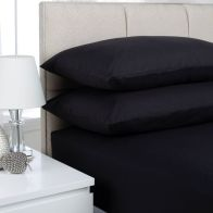 See more information about the Plain Dyed King Size Fitted Sheet Black