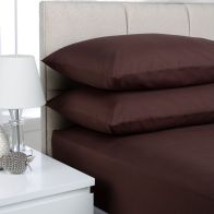 See more information about the Plain Dyed Pair Pillowcases Chocolate