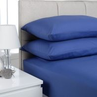 See more information about the Plain Dyed Double Bed Fitted Sheet French Blue