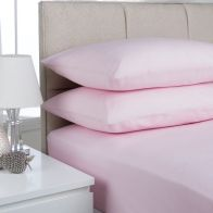 See more information about the Plain Dyed Single Bed Flat Sheet Pink