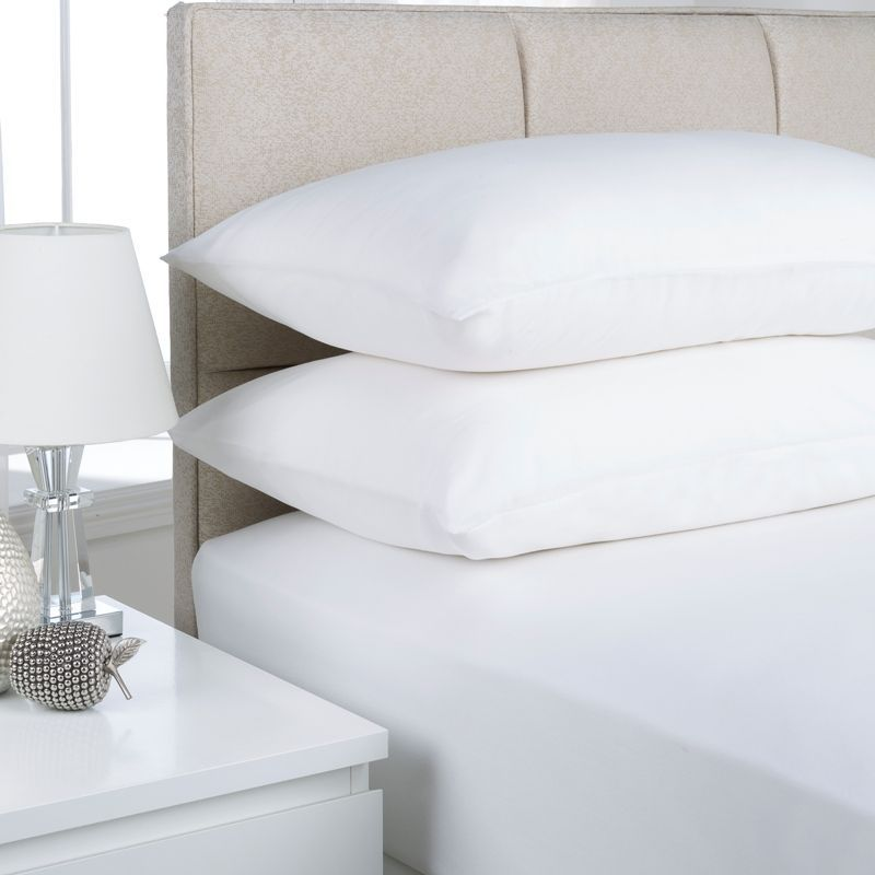 Plain Dyed Single Bed Flat Sheet White