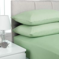 See more information about the Plain Dyed Double Bed Fitted Sheet  Willow