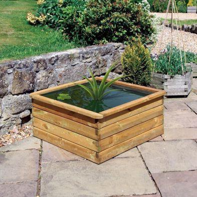 Wooden Aquatic Planter