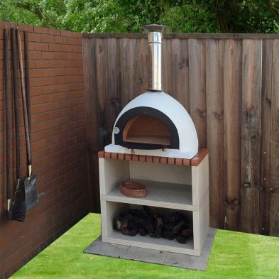 Xclusive Decor Outdoor Royal Wood Fired Pizza Oven with Stand