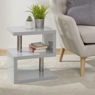 See more information about the Polar Side Table Grey 2 Shelf