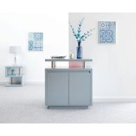 See more information about the Polar High Gloss 2 Door Sideboard Grey