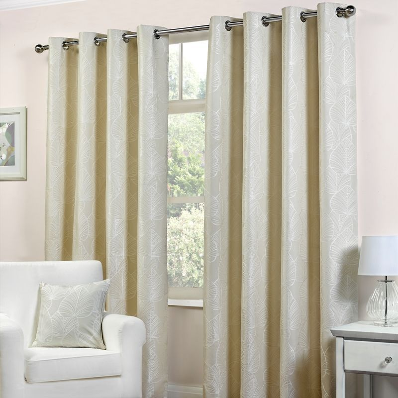 "Palma Curtains (66"" Width x 72"" Drop) - Natural"