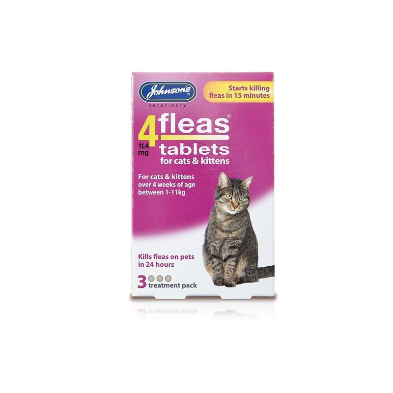 Johnsons Cat Flea Tabs (4 Weeks) - Johnson