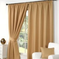 "See more information about the Waffle Curtains (45"" Width x 54"" Drop) - Gold"