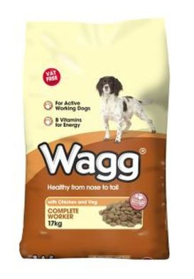 Wagg Worker Dog Food with Chicken & Veg 17kg