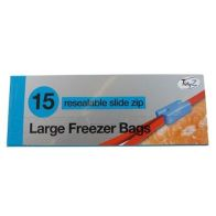 See more information about the 15 Large Freezer Bags Re-sealable Slide Zip