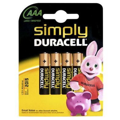 4 Pack of AA Duracell Batteries