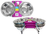 See more information about the  Large Double Diner Dog Bowl & Stand