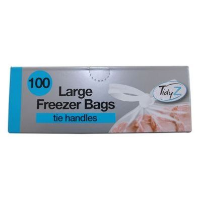 100 Freezer Bag Tie Handles