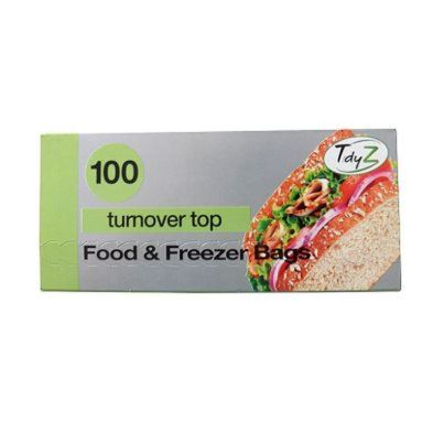 100 Sandwich Bags Turnover Top