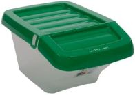 See more information about the Recycle Bin Clear/Green Hinged Lid 30Ltr