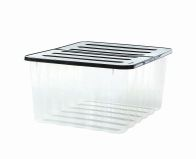 See more information about the 48L Supa Nova Clear Box With Black Lid