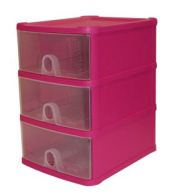 See more information about the Handi 3 Drawer Plastic Storage Unit Fuschia