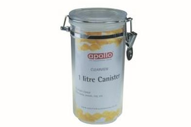 1000ml Clear PS Canister