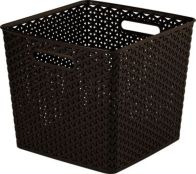 See more information about the Curver My Style Rattan Basket 25L Dark Brown