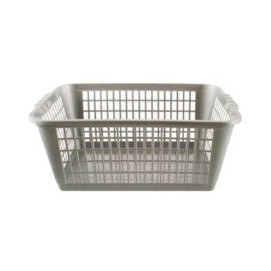 6.6L Premier Basket Plastic Storage Basket Grey