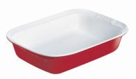 See more information about the Pyrex 26x17cm Red  Rectangular Roaster