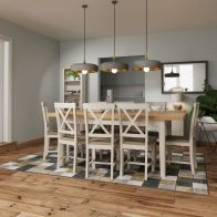 See more information about the Westbridge Light Oak & Dove Grey Extending 1.6 To 2M Dining Table